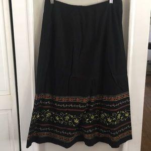 Dresses & Skirts - Cotton Long Skirt w/ Beautiful Stitching
